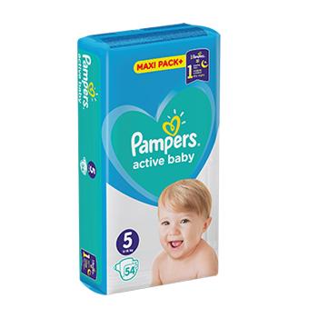 2+1 Pampers pelene Active Baby Maxi Pack veličina 5 (11-16 kg) 54 kom