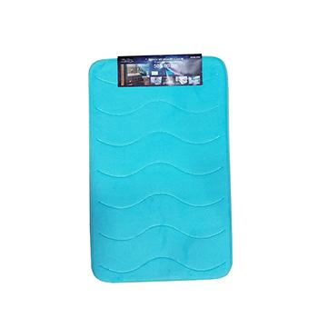 Tepih za kupaonu, 50x80 cm, plavi s efektom valova